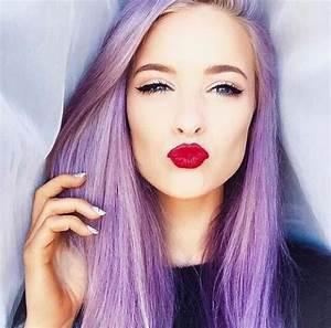 Le Mauve Se Marie Avec Quelle Couleur : cheveux violet une coloration pour moi mauve violine auburn ~ Nature-et-papiers.com Idées de Décoration