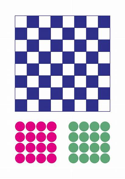 Printable Checkers Board Checkerboard Printablee Via
