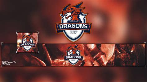 youtube dragon esports style banner avatar template