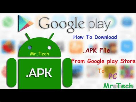 how to apk file from play store to pc