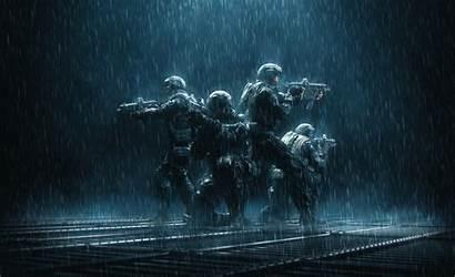 Dark Rain Military Soldier Weapon Artwork Wallpapers