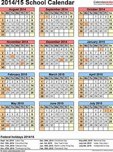 school calendars 2014 2015 as free printable pdf templates With 2014 15 academic calendar template