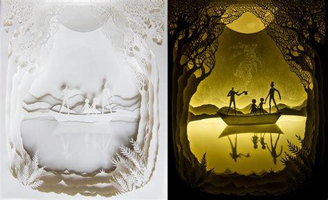 paper cut light box backlit paper sculptures by hari deepti colossal