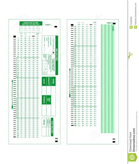 test form stock image image  blank choice scantron