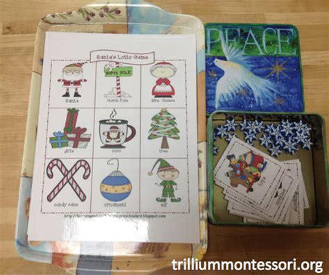 december activities for preschool trillium montessori 281   December Lotto