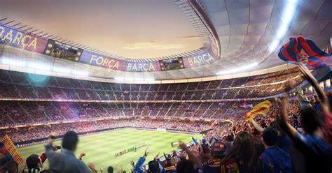 barcelona unveil latest camp nou expansion plans soccerbible