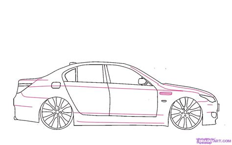 car drawing how to draw a bmw step by step cars draw cars online