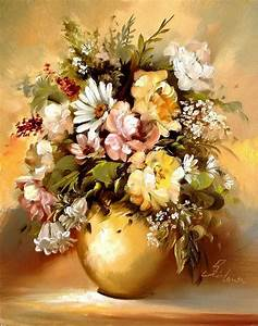 20 Beautiful Bouquet and Flower Oil Paintings by Szechenyi ...