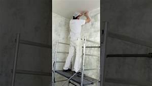 Pose Toile De Verre Plafond : pos de la toile de verre au plafond youtube ~ Melissatoandfro.com Idées de Décoration