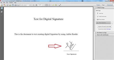create digital signature   adobe reader