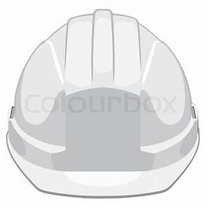 White Construction Helmet Front View