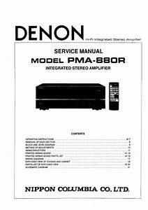 Download Denon Pma 880r Service Manual