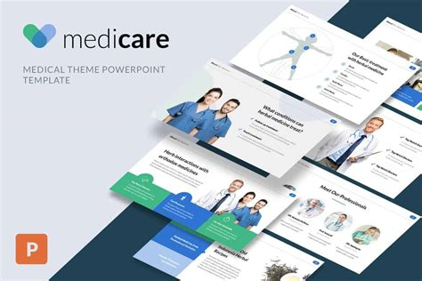 medical powerpoint templates design shack