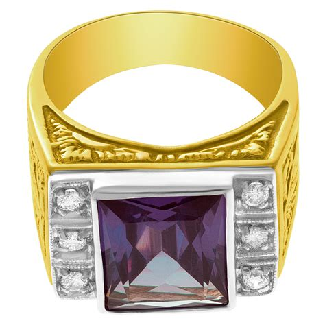 color changing stones color changing mounted in 18k yellow gold with
