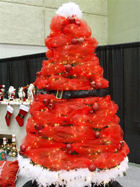 santa inspired christmas tree pictures photos and images