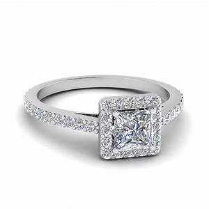 princess cut diamond floating square halo engagement ring With square cut wedding ring