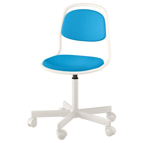 214 rfj 196 ll children s desk chair white vissle bright blue ikea