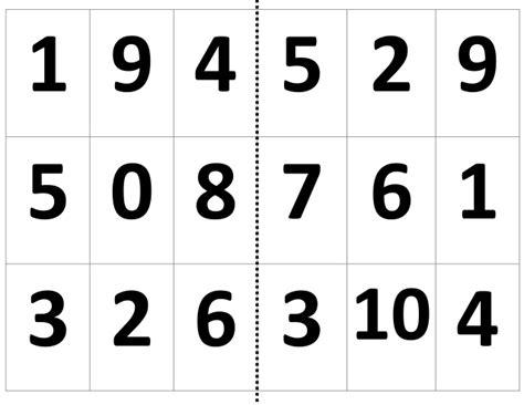 loteria de numeros cartas