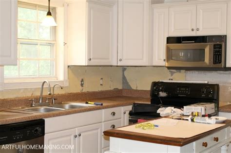 installing backsplash in kitchen how to install a beadboard kitchen backsplash artful 4730