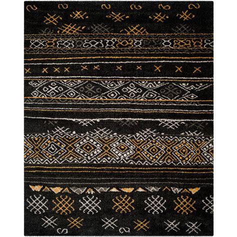 safavieh tibetan rugs safavieh tibetan shag black gold 8 ft x 10 ft area rug