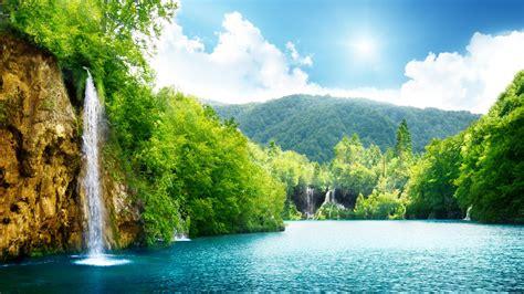 Wallpaper Lake, 4k, HD wallpaper, sea, water, waterfall ...