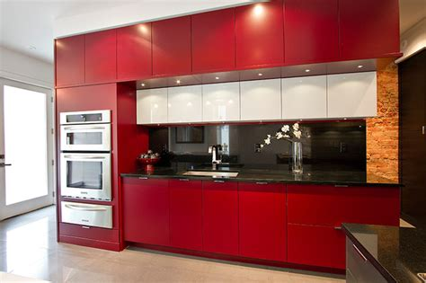 red hot kitchen reno modern kitchen toronto  amy