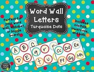word wall alphabet letters turquoise dots by chalk and With dots on turquoise letters