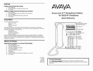 Avaya Telephone 9620 User U0026 39 S Guide