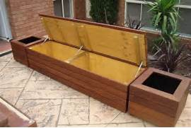 Garden Bench Seating by Bench Seat With Planter Garden Outdoor Living Pinterest