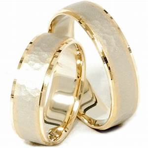 14k gold matching two tone hammered wedding ring set tanga With wedding ring deals
