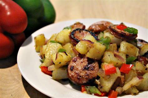 smoked sausage recipe smoked sausage pepper and potato hash recipe