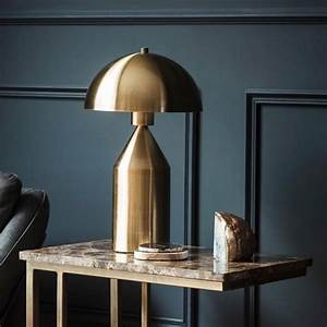 gold dome lamp by the forest co notonthehighstreetcom With gold dome floor lamp
