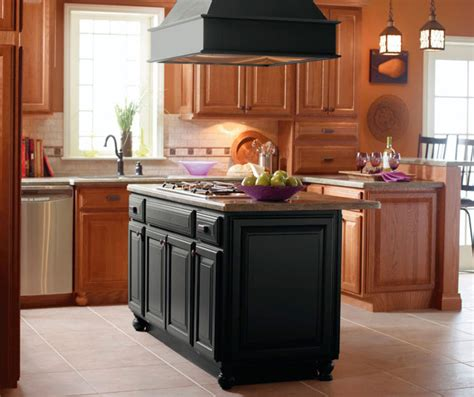kitchen cabinets and islands light oak cabinets with black kitchen island kemper