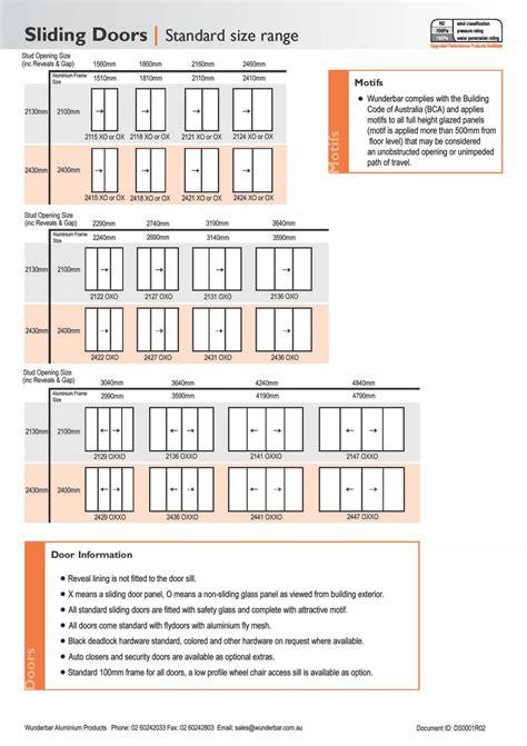 standard patio door dimensions door width nominal size