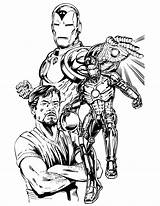 Iron Coloring Tony Stark Printable Drawing Drawings Draw Adults Clipart Sketch Ww1 Ironman Marvel Cxxii Commissionando Layton Bob Avengers Library sketch template