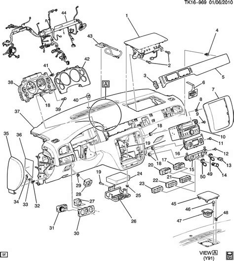 Gmc Part Diagram by Cover Instrument Panel Genuine Gm Part 10374535 Cadillac