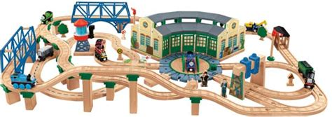 tidmouth shed deluxe train set in thomas box by fisher