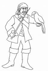 Coloring Pages Pirate Parrot Clipartqueen sketch template