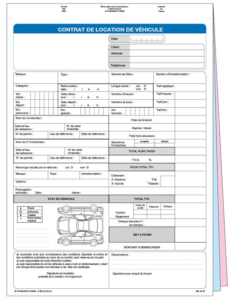 bail location bureau contrat de location non personnalis m40spz