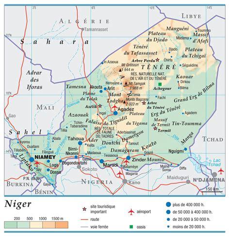 La Va Aider Le Niger Carte Du Niger Plusieurs Cartes Du Pays En Afrique