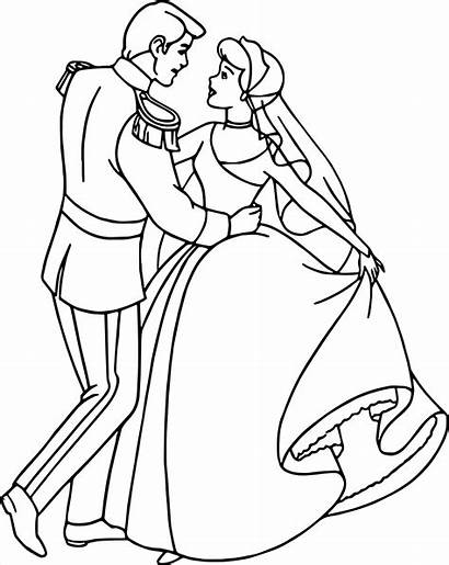 Coloring Prince Cinderella Pages Charming Tap Face
