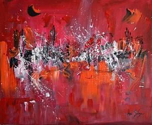 Peinture Noir Et Rouge Peinture Contemporain Rouge Noir Moment