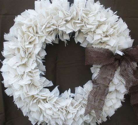 contemporary christmas wreaths burlap christmas wreath white brown by the slanted barn contemporary wreaths and garlands