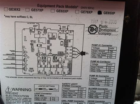 Spa Circuit Board Wiring Diagram by I A Pdc Spa With A Spa Pack Model Ge85xp It Needs A