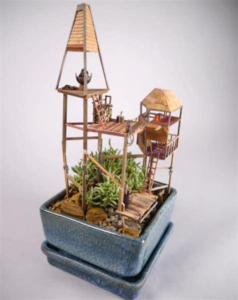 Miniature Tree House   บ้านต้นไม้, ไอเดียแต่งสวน, สวนจิ๋ว