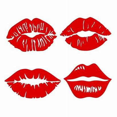 Lips Svg Lip Silhouette Kiss Cricut Kissing