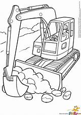 Coloring Digger Pages Excavator Getcoloringpages Printable Tractor Backhoe Trucks Bulldozer sketch template