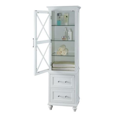 Tower Bathroom Cabinet by Modern White Wood Linen Tower Bathroom Storage Cabinet