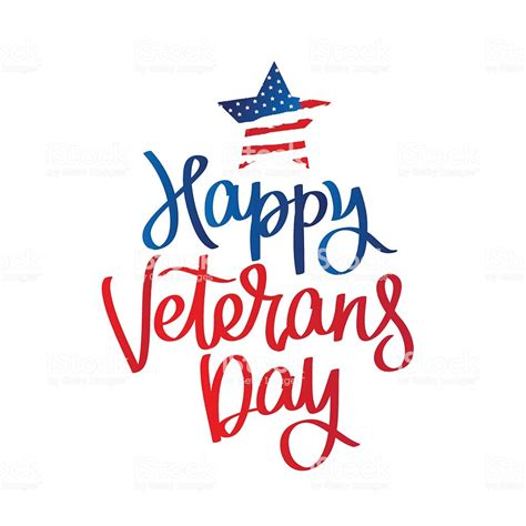 veterans day clipart happy veterans day calligraphy stock vector more