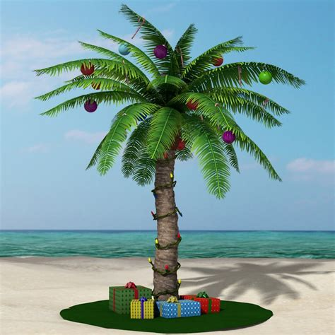 3d christmas palm tree model
